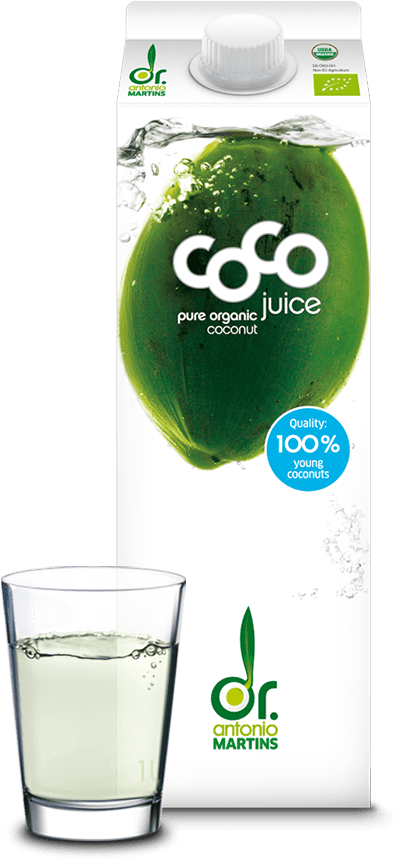 coconut water glass pure Kokoswasser pur Glas