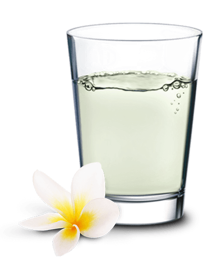 glass of coconut water Kokoswasser Glas groß