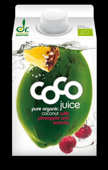 coconut water pineapple acerola Kokoswasser Ananas 500ml