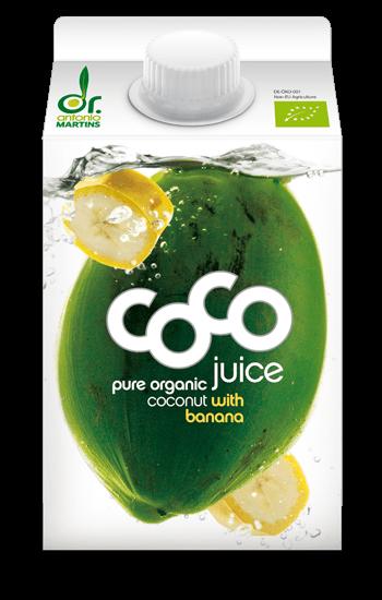 coconut water banana Kokoswasser Banane 500ml