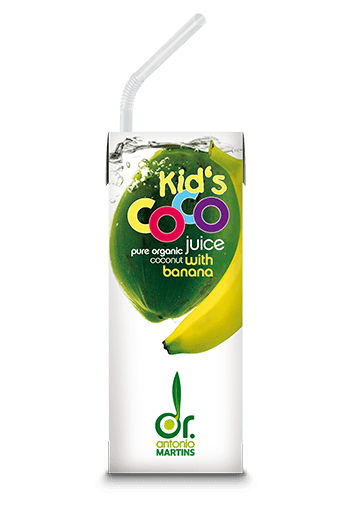 coconut water banana kids Kokoswasser kinder Banane